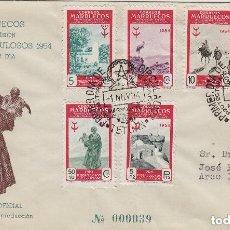 Sellos: MARRUECOS 1954 Nº ED 394/99 PRO TUBERCULOSOS SOBRE SPD CIRCULADO ED, OFICIAL AZUL . MUY RARO. Lote 191098640