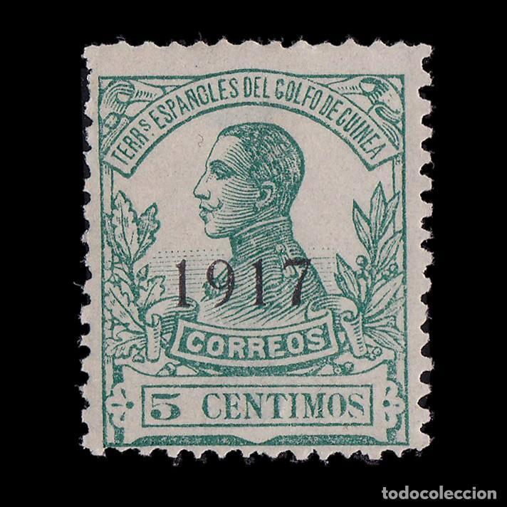 GUINEA 1917.ALFONSO XIII.5C.HN.EDIFIL.113 (Sellos - España - Colonias Españolas y Dependencias - África - Guinea)