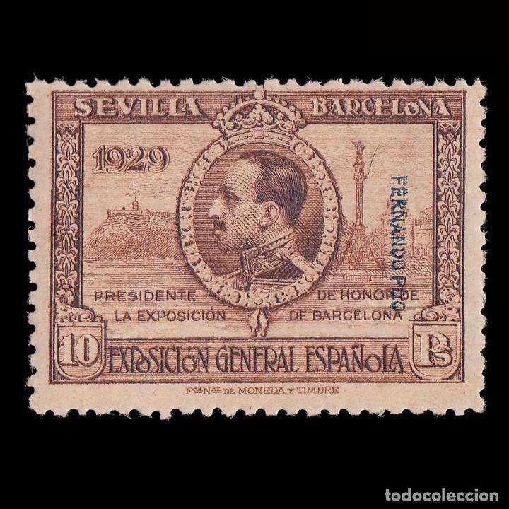 FERNANDO POO.1929 ALFONSO XIII.10P. MNH EDIFIL 178. (Sellos - España - Colonias Españolas y Dependencias - África - Fernando Poo)