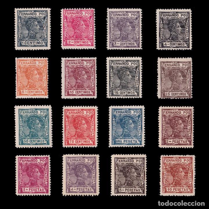 FERNANDO POO.1907 ALFONSO XIII.SERIE. MNH.EDIFIL 152-167. (Sellos - España - Colonias Españolas y Dependencias - África - Fernando Poo)