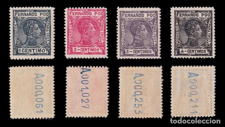Sellos: Fernando Poo.1907 Alfonso XIII.Serie. MNH.Edifil 152-167. - Foto 2 - 191730597