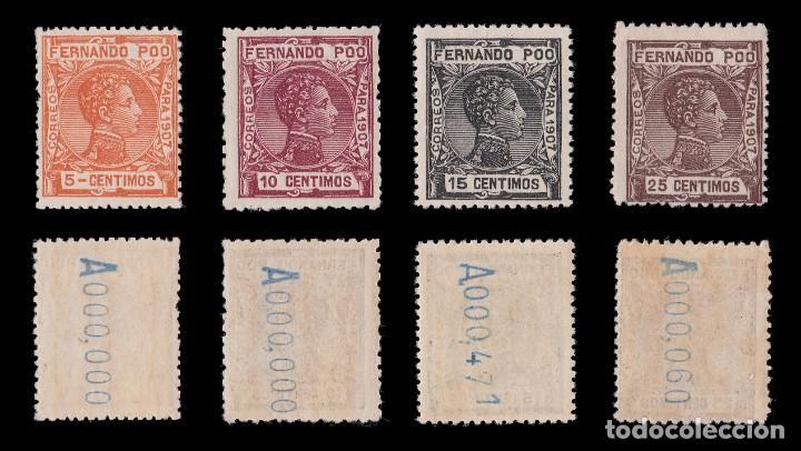 Sellos: Fernando Poo.1907 Alfonso XIII.Serie. MNH.Edifil 152-167. - Foto 3 - 191730597