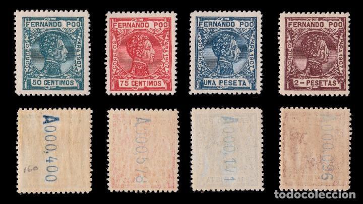 Sellos: Fernando Poo.1907 Alfonso XIII.Serie. MNH.Edifil 152-167. - Foto 4 - 191730597