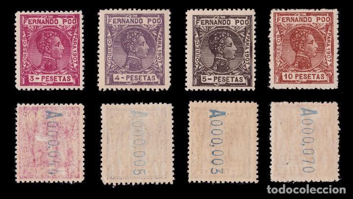 Sellos: Fernando Poo.1907 Alfonso XIII.Serie. MNH.Edifil 152-167. - Foto 5 - 191730597
