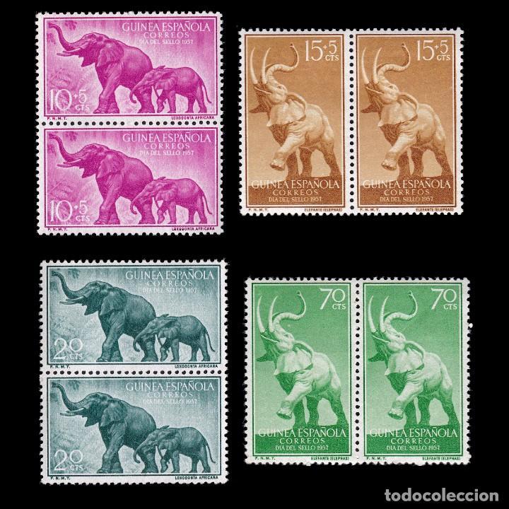 GUINEA.1957. FAUNA.SERIE BLQ 2.MHN.EDIFIL 369-372 (Sellos - España - Colonias Españolas y Dependencias - África - Guinea)