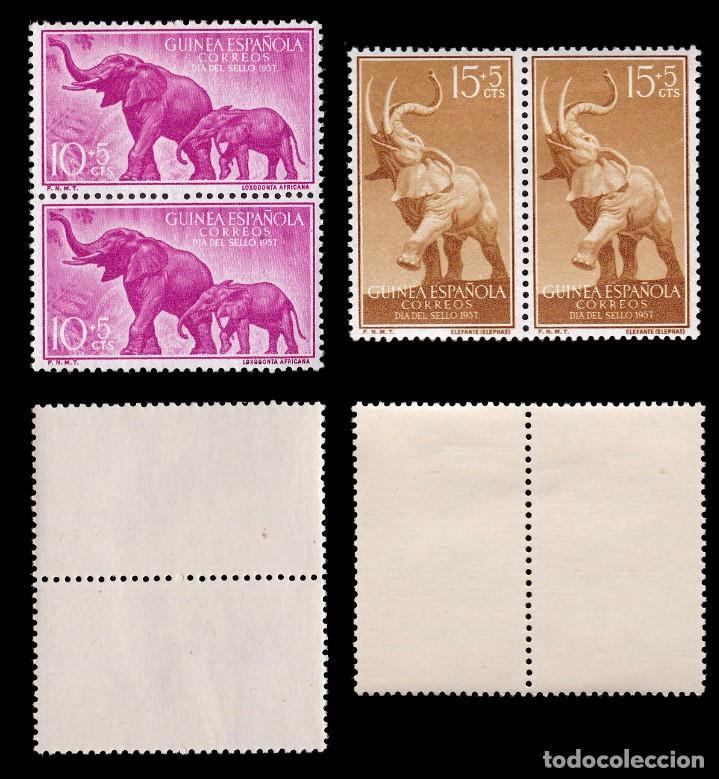 Sellos: GUINEA.1957. Fauna.Serie Blq 2.MHN.Edifil 369-372 - Foto 2 - 191774581