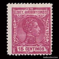 Sellos: ELOBEY 1907.ALFONSO XIII.15C.NUEVO**.MNH.EDIFIL 41. Lote 192307798