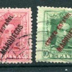 Timbres: EDIFIL 17/22 DE TÁNGER, MARRUECOS ESPAÑOL. SERIE COMPLETA, MATASELLADOS. Lote 192734968