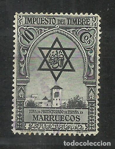 510C-SELLO FISCAL MARRUECOS ESPAÑOL 1938 IMPUESTO PIE THOS. DE LA RUE & CO LTD.LONDON SPAIN REVENUE (Sellos - España - Colonias Españolas y Dependencias - África - Marruecos)