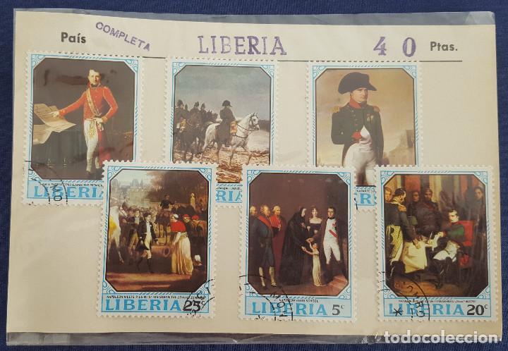 LOTE DE 6 SELLOS DE LIBERIA. COLECCIÓN COMPLETA.1970 CON MATASELLOS (Sellos - España - Colonias Españolas y Dependencias - África - Otros)
