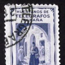 Sellos: HUÉRFANOS TELÉGRAFOS TÁNGER, SELLO USADO, 25 CTS., COLOR AZUL. VISTA.. Lote 193322153