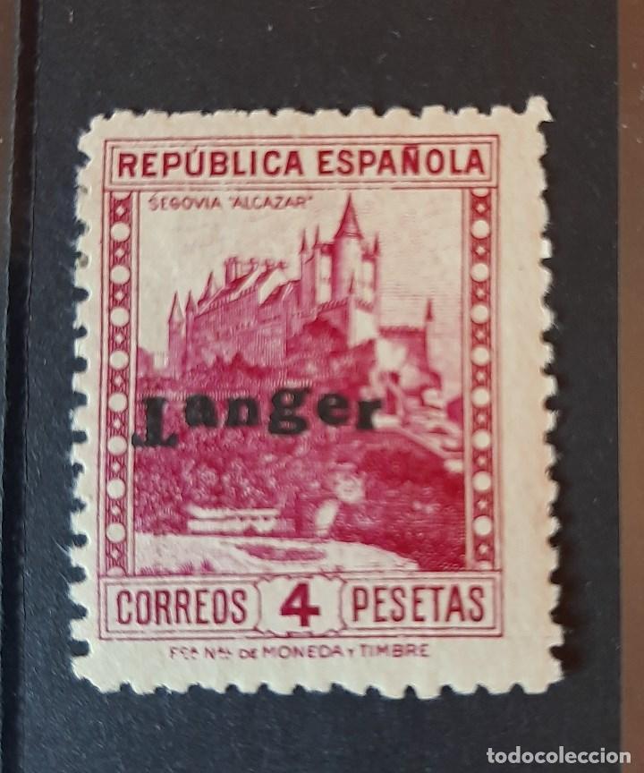 SELLO TANGER - 1939 - EDIFIL 126 HEA - HABILITADO T INVERTIDA - /*/ SEÑAL FIJASELLO (Sellos - España - Colonias Españolas y Dependencias - África - Tanger)
