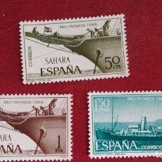 Sellos: *+ Nº 249**/251** SAHARA - SERIE PRO-INFANCIA - AÑO 1966 - LEER DESCRIPCIÓN. Lote 193833416
