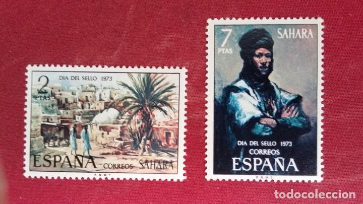 *+ Nº 312**/313** SAHARA - SERIE DÍA DEL SELLO - AÑO 1973 - LEER DESCRIPCIÓN (Sellos - España - Colonias Españolas y Dependencias - África - Sahara)