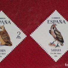 Sellos: *+ Nº 317**/318** SAHARA - SERIE DÍA DEL SELLO - AÑO 1974 - LEER DESCRIPCIÓN. Lote 193837431