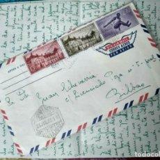 Sellos: SOBRE FRANQUEADO SANTA ISABEL JULIO 1960. CARTA DESCRIBIENDO LA COLONIA. GUINEA ECUATORIAL ESPAÑOLA. Lote 193998357