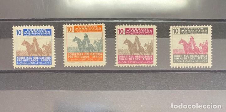 MARRUECOS SERIE BENEFICIENCIA (Sellos - España - Colonias Españolas y Dependencias - África - Marruecos)