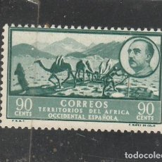 Sellos: AFRICA OCCIDENTAL 1950 - EDIFIL NRO. 13 - PAISAJE Y GRAL. FRANCO - SIN GOMA. Lote 194737345