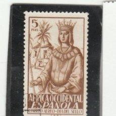 Sellos: AFRICA OCCIDENTAL 1949 - EDIFIL NRO. 2 - ISABEL LA CATOLICA - USADO. Lote 194737691