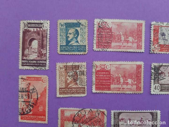 Sellos: LOTE 23 SELLOS PRO MUTILADOS AFRICA MARRUECOS PROTECTORADO ESPAÑOL 40-10 CENTIMOS - Foto 3 - 194785735