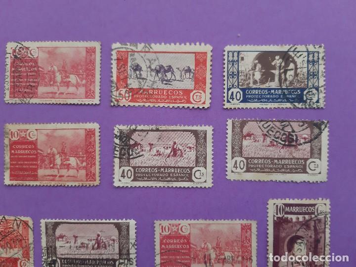Sellos: LOTE 23 SELLOS PRO MUTILADOS AFRICA MARRUECOS PROTECTORADO ESPAÑOL 40-10 CENTIMOS - Foto 4 - 194785735