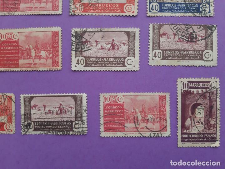 Sellos: LOTE 23 SELLOS PRO MUTILADOS AFRICA MARRUECOS PROTECTORADO ESPAÑOL 40-10 CENTIMOS - Foto 5 - 194785735