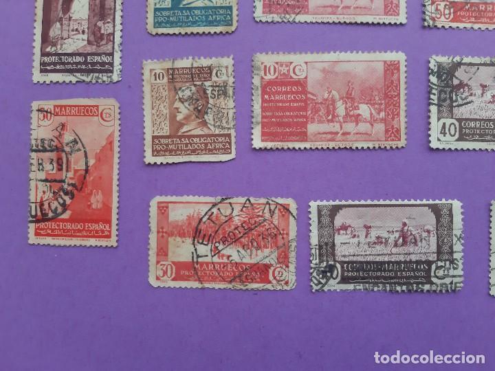 Sellos: LOTE 23 SELLOS PRO MUTILADOS AFRICA MARRUECOS PROTECTORADO ESPAÑOL 40-10 CENTIMOS - Foto 6 - 194785735