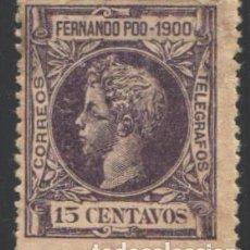 Sellos: FERNANDO POO, 1900 EDIFIL Nº 87 . Lote 194938058