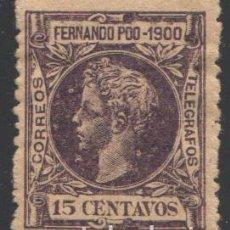 Sellos: FERNANDO POO, 1900 EDIFIL Nº 87. Lote 194961196