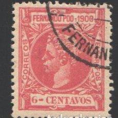 Sellos: FERNANDO POO, 1900 EDIFIL Nº 84. Lote 194968511
