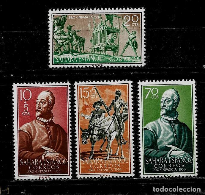 SAHARA - PRO INFANCIA - EDIFIL 149-152 - 1958 - SIN FIJASELLOS (Sellos - España - Colonias Españolas y Dependencias - África - Sahara)