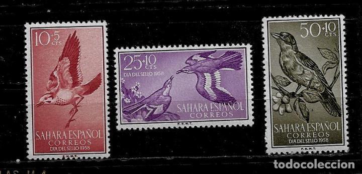 SAHARA - DIA DEL SELLO - EDIFIL 153-155 - 1958 - SIN FIJASELLOS (Sellos - España - Colonias Españolas y Dependencias - África - Sahara)