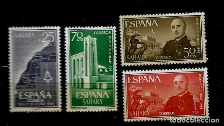 SAHARA - XXV ANIVERSARIO DE LA EXALTACION DEL CAUDILLO - EDIFIL 196-196 - 1961 -SIN FIJASELLOS (Sellos - España - Colonias Españolas y Dependencias - África - Sahara)