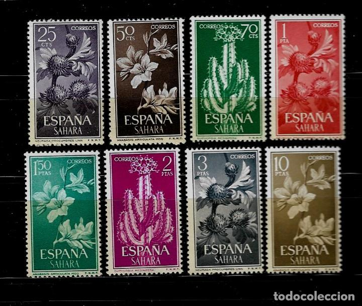 SAHARA - PLANTAS Y FLORES - EDIFIL 201-208 - 1962 - SIN FIJASELLOS (Sellos - España - Colonias Españolas y Dependencias - África - Sahara)