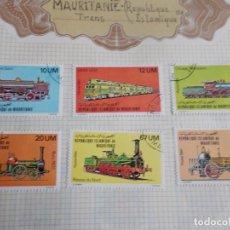 Sellos: MAURITANIA 6 SELLOS TRENES . Lote 195320856
