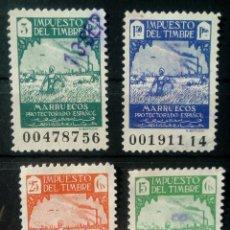 Sellos: FISCAL MARRUECOS IMPUESTO DEL TIMBRE. Lote 195475492