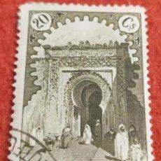 Francobolli: SELLO MARRUECOS 1928 Nº 110 PUERTA DE LARACHE 20 C OLIVA. Lote 195777691