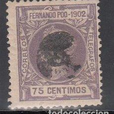 Francobolli: FERNANDO POO, 1902 EDIFIL Nº 114. Lote 196002820