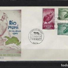 Sellos: SPD 57/59 DIA DEL SELLO RIO MUNI RANAS SOBRE MATASELLADO PRIMER DIA BUEN ESTADO. Lote 196959073