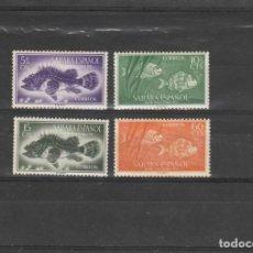 Francobolli: SAHARA ESPAÑOL 1953 - EDIFIL NRO. 108-111 - CHARNELA - SEÑAL DEL TIEMPO. Lote 197228891