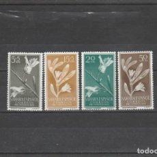 Francobolli: SAHARA ESPAÑOL 1956 - EDIFIL NRO. 126-29 - CHARNELA - SEÑAL DEL TIEMPO. Lote 197233766