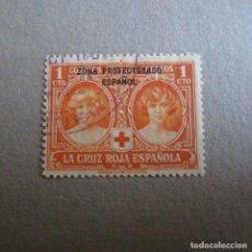 Sellos: MARRUECOS 1926, EDIFIL,Nº 91, PRO CRUZ ROJA ESPAÑOLA. MATASELLADO. Lote 197823897