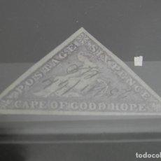 Sellos: CABO DE LA BUENA ESPERANZA 1863 6 PENIQUES CON CERTIFICADO. Lote 197877126