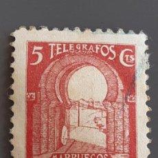 Selos: MARRUECOS, TELÉGRAFOS 42 , 1938. Lote 197896151