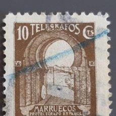 Selos: MARRUECOS, TELÉGRAFOS 43 , 1938. Lote 197896247