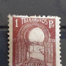 Timbres: MARRUECOS, TELÉGRAFOS 46 * , 1938. Lote 197896792