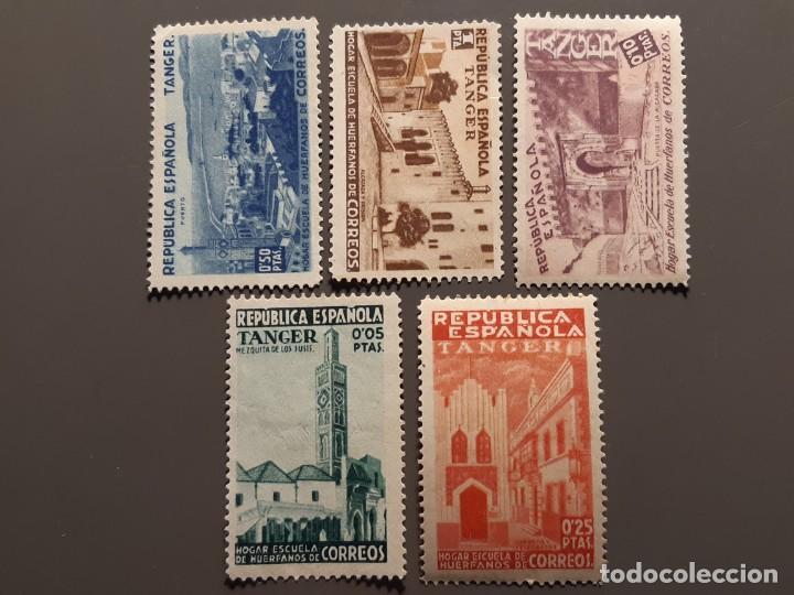 TÁNGER , BENEFICENCIA EDIFIL 1-5 (*), 1937 (Sellos - España - Colonias Españolas y Dependencias - África - Tanger)