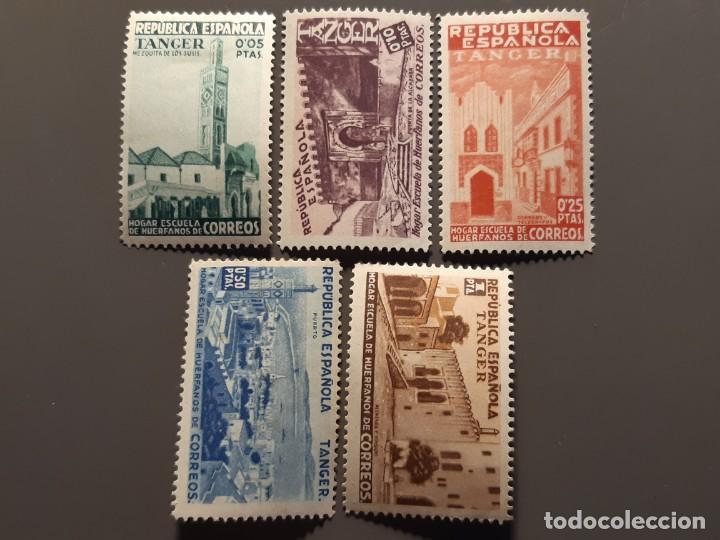 TÁNGER , BENEFICENCIA EDIFIL 1-5 *, 1937 (Sellos - España - Colonias Españolas y Dependencias - África - Tanger)