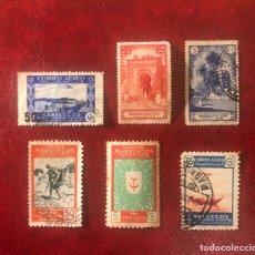 Sellos: LOTE 6 SELLOS PROTECTORADO ESPAÑOL MARRUECOS 1928-1953. Lote 198166292