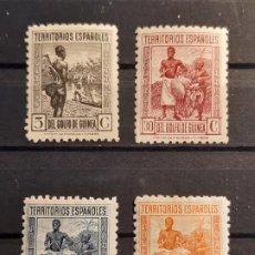 Selos: GUINEA , EDIFIL NE 11*, 11E*, 11F* Y 11G* , 1932. Lote 198260443